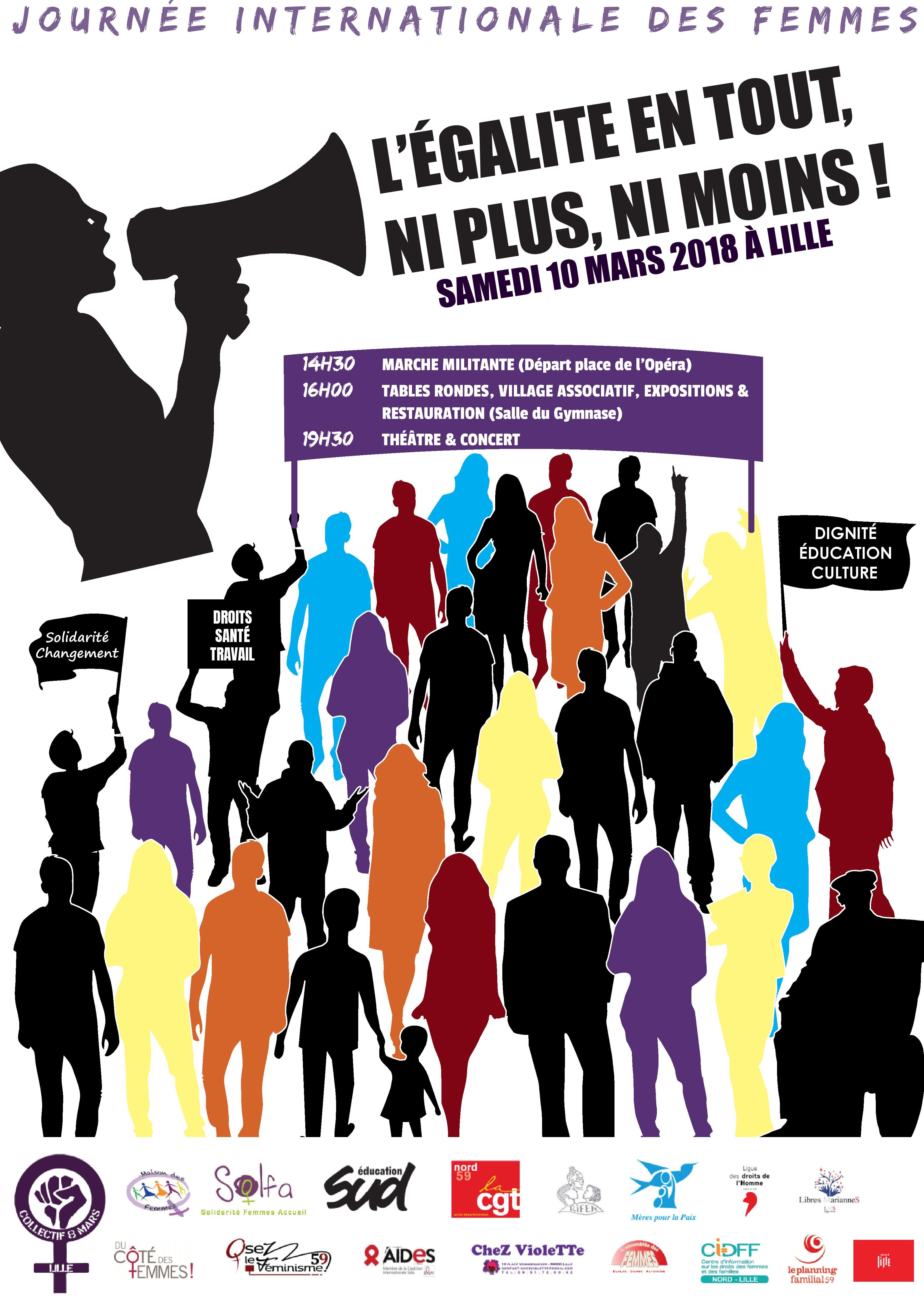 Génial Affiche Pour La Journée De La Femme journée internationale des droits des femmes | planningfamilial-npdc
